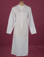 White cotton nightdress Embroidery on yoke & full length sleeve, ¾ length Star Dreamer, Dawhaven Australia