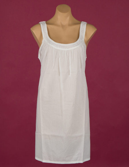 short Star Dreamer 100% cotton nightgown, white embroidery, sleeveless. Dawhaven Australia